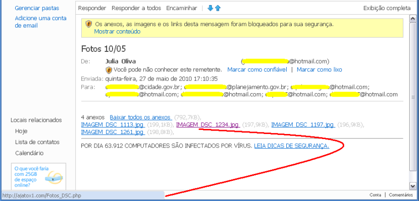 Virus-email Hotmail2